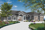 Traditional House Plan Front of Home - 032D-0740 | House Plans and More