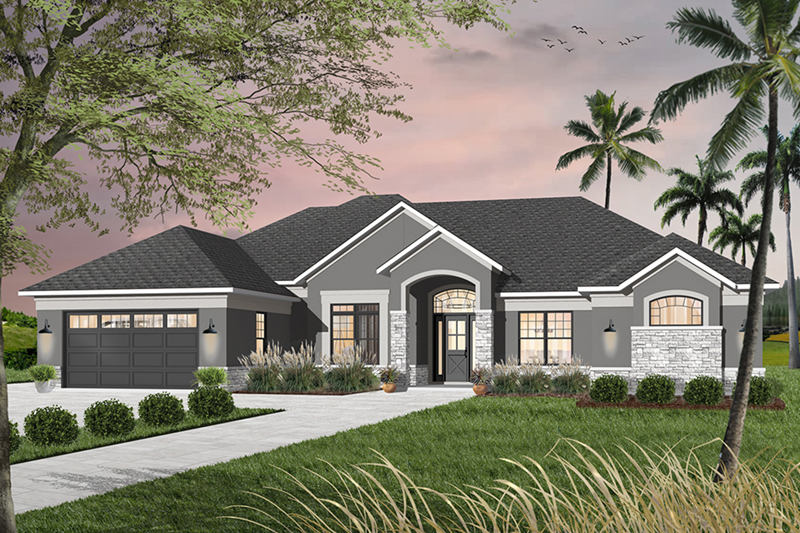 Mediterranean House Plan Front of Home - 032D-0741 | House Plans and More