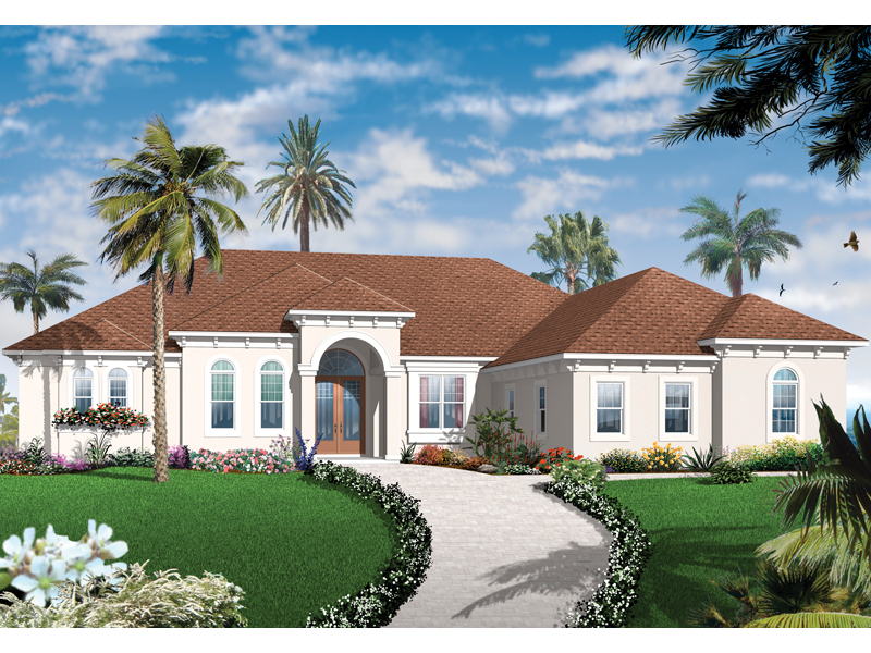 Sunbelt Home Plan Front of Home - 032D-0742 | House Plans and More