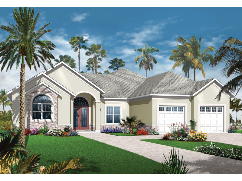 Ranch House Plan Front of Home - 032D-0743 | House Plans and More