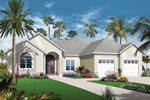 Mediterranean House Plan Front of Home - 032D-0743 | House Plans and More