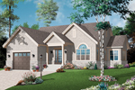 Ranch House Plan Front Photo 01 - 032D-0745 | House Plans and More