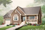 Early American House Plan Front of Home - 032D-0746 | House Plans and More
