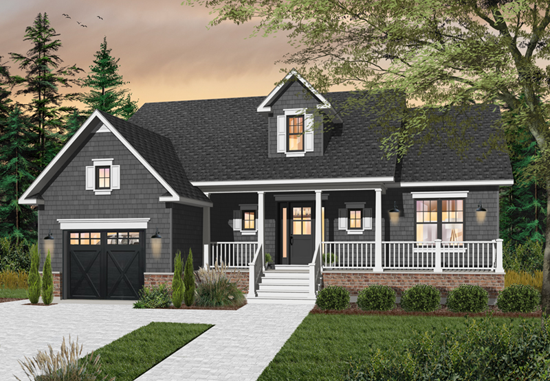 Craftsman House Plan Front of Home - 032D-0747 | House Plans and More