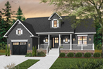 Farmhouse Plan Front of Home - 032D-0747 | House Plans and More