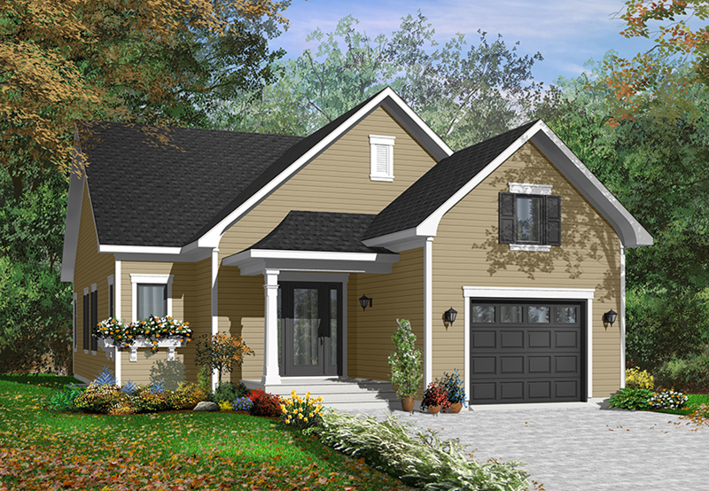 Ranch House Plan Front of Home - 032D-0748 | House Plans and More
