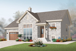Bungalow House Plan Front of Home - 032D-0751 | House Plans and More