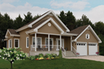 Early American House Plan Front of Home - 032D-0752 | House Plans and More