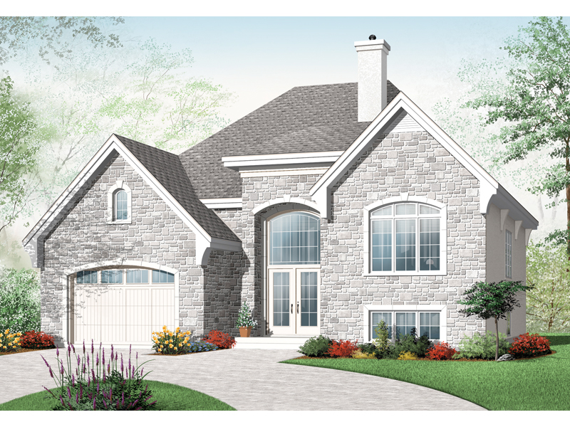 Traditional House Plan Front of Home - 032D-0753 | House Plans and More