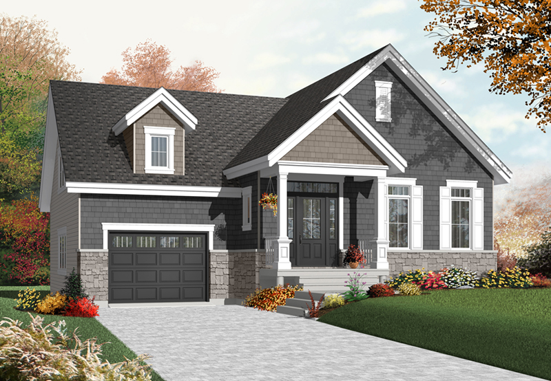 Early American House Plan Front of Home - 032D-0754 | House Plans and More