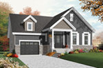 Bungalow House Plan Front of Home - 032D-0754 | House Plans and More
