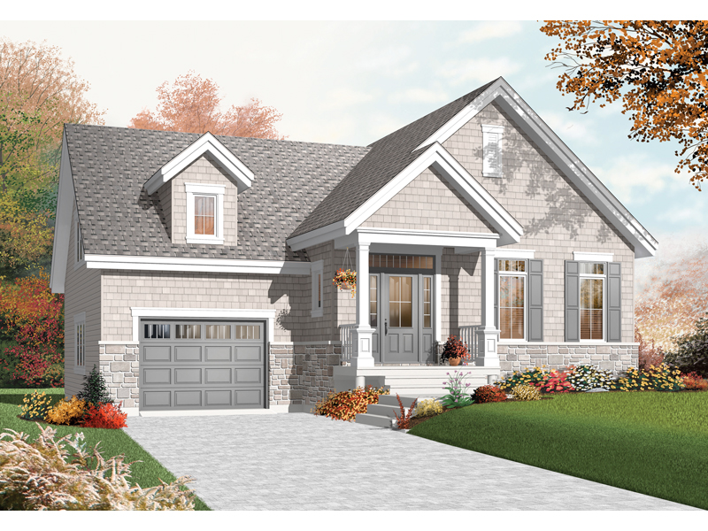 Early American House Plan Front of Home - 032D-0755 | House Plans and More