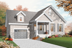 Craftsman House Plan Front of Home - 032D-0755 | House Plans and More