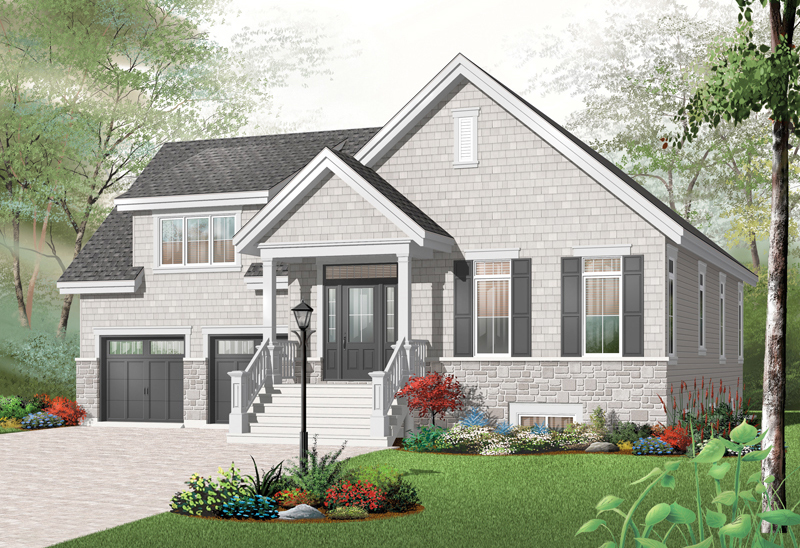 Arts and Crafts House Plan Front of Home - 032D-0756 | House Plans and More