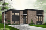Modern House Plan Front of Home - 032D-0757 | House Plans and More