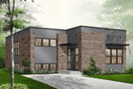 Modern House Plan Front Photo 01 - 032D-0757 | House Plans and More