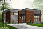 Modern House Plan Front Photo 03 - 032D-0757 | House Plans and More