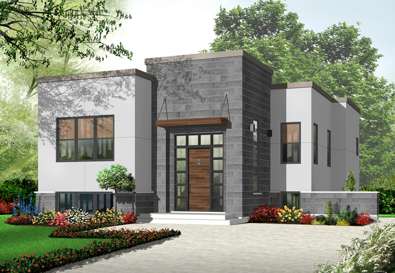 Modern House Plan Front of Home - 032D-0758 | House Plans and More