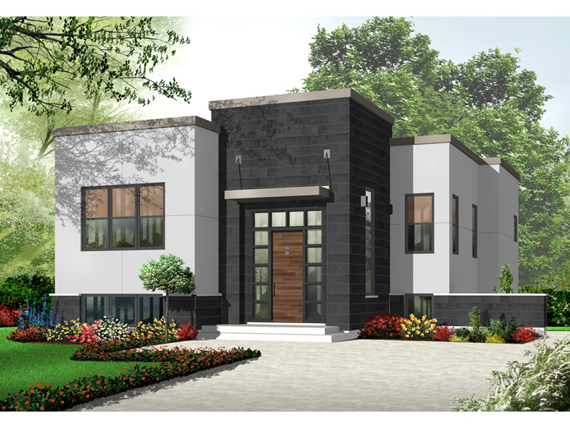 Modern House Plan Front Photo 01 - 032D-0758 | House Plans and More