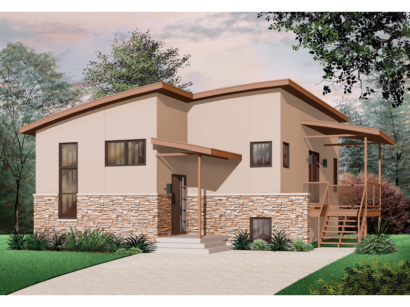 Bungalow House Plan Front of Home - 032D-0759 | House Plans and More