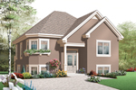 European House Plan Front of Home - 032D-0760 | House Plans and More