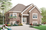 Early American House Plan Front of Home - 032D-0761 | House Plans and More