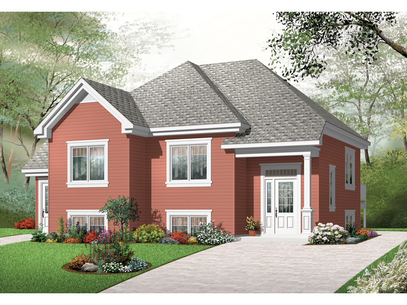 Early American House Plan Front of Home - 032D-0763 | House Plans and More