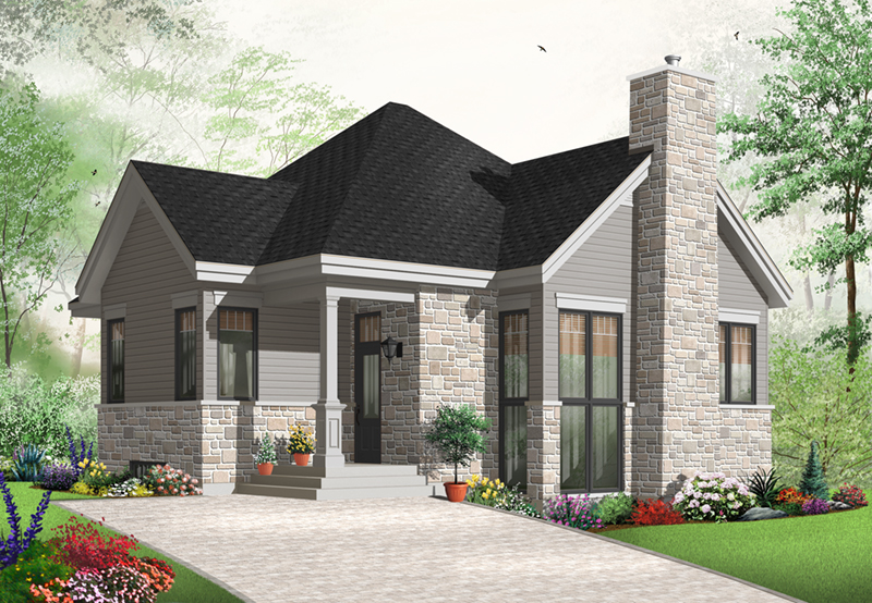 Country House Plan Front of Home - 032D-0764 | House Plans and More