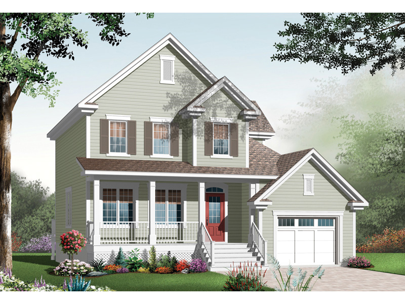 Farmhouse Plan Front Image - 032D-0765 | House Plans and More
