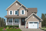 Farmhouse Plan Front of Home - 032D-0765 | House Plans and More