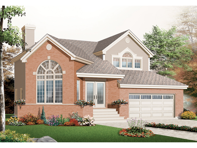 European House Plan Front of Home - 032D-0766 | House Plans and More