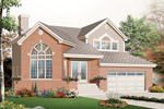 Country French Home Plan Front of Home - 032D-0766 | House Plans and More