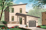 Modern House Plan Front of Home - 032D-0768 | House Plans and More