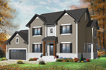 Early American House Plan Front of Home - 032D-0772 | House Plans and More