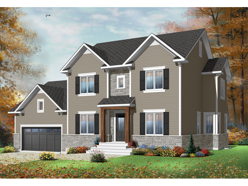 Traditional House Plan Front Photo 03 - 032D-0772 | House Plans and More