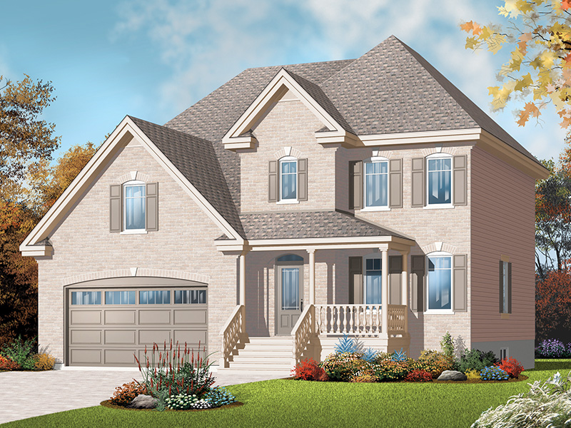 European House Plan Front of Home - 032D-0773 | House Plans and More