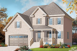 Early American House Plan Front of Home - 032D-0773 | House Plans and More