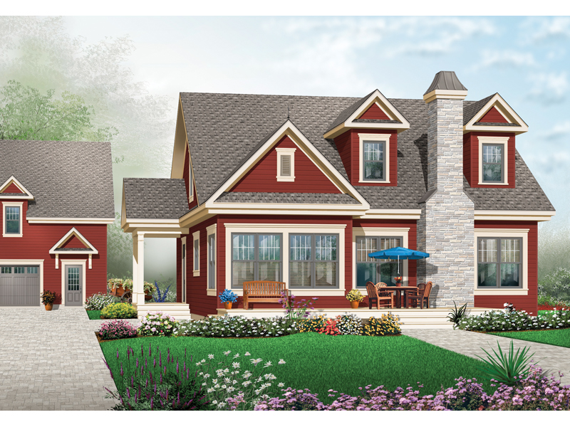 Ranch House Plan Front of Home - 032D-0774 | House Plans and More