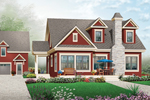 Early American House Plan Front of Home - 032D-0774 | House Plans and More