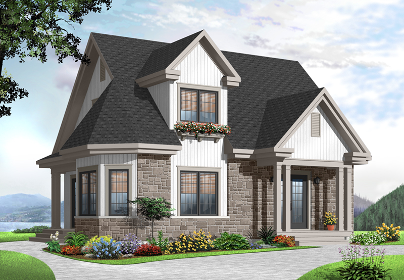 European House Plan Front of Home - 032D-0775 | House Plans and More