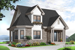 Ranch House Plan Front of Home - 032D-0775 | House Plans and More