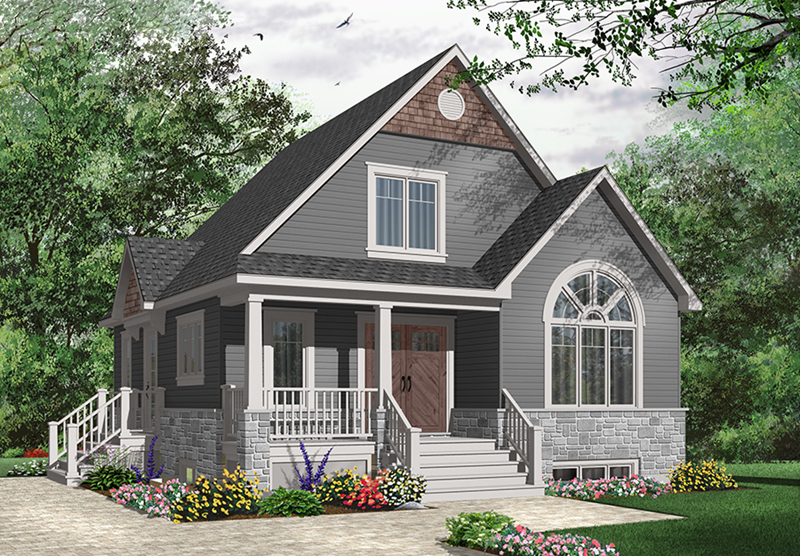 Traditional House Plan Front of Home - 032D-0776 | House Plans and More