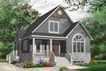 Bungalow House Plan Front of Home - 032D-0776 | House Plans and More
