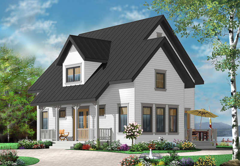 Early American House Plan Front of Home - 032D-0778 | House Plans and More