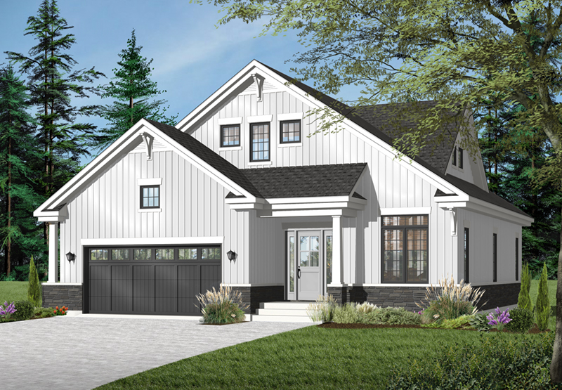 Craftsman House Plan Front of Home - 032D-0780 | House Plans and More