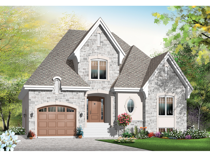 European House Plan Front of Home - 032D-0781 | House Plans and More