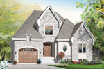 Early American House Plan Front of Home - 032D-0781 | House Plans and More