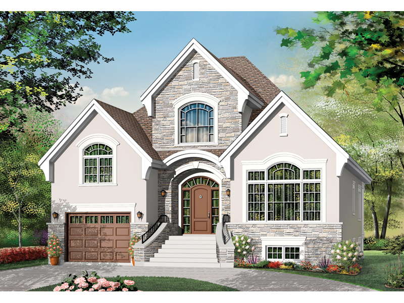 European House Plan Front of Home - 032D-0782 | House Plans and More