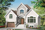 English Cottage Plan Front of Home - 032D-0782 | House Plans and More