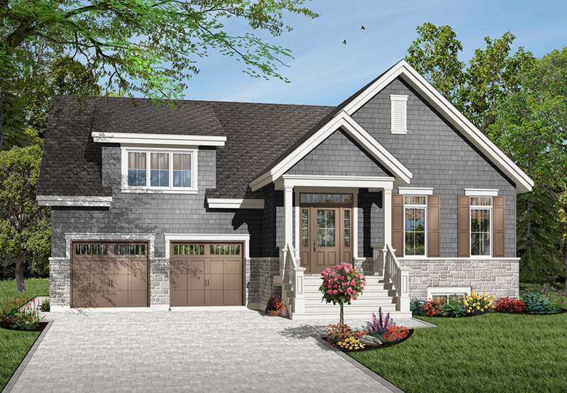 Craftsman House Plan Front of Home - 032D-0783 | House Plans and More